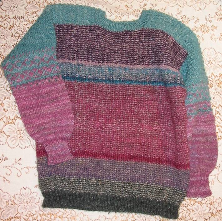 Knitting Sweaters From The Top Down : Top down sweater knitting pattern patterns gallery