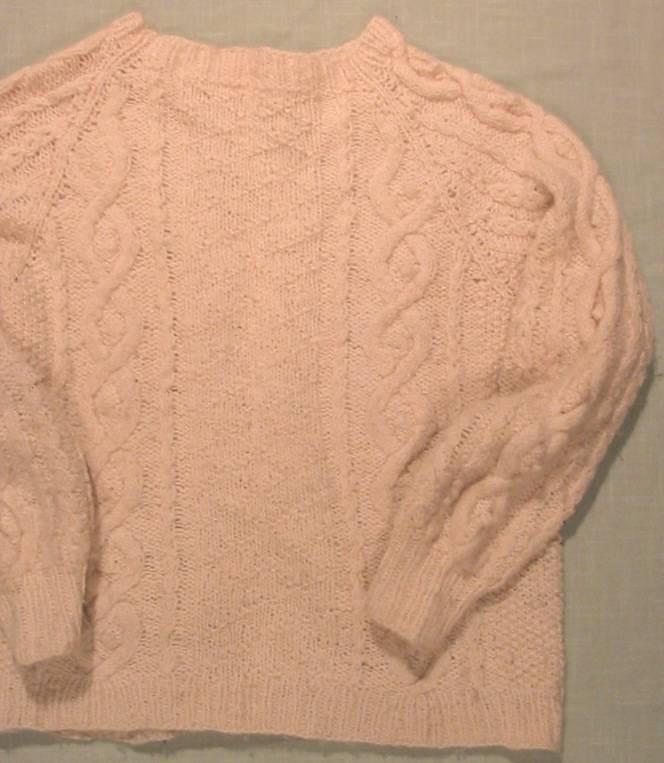 Irish Cable Knit Sweater, Aran & Texture Patterns | SpinCraft ...