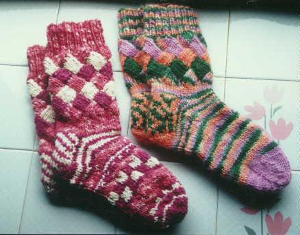 Colorful Sock Knit Pattern Set Spincraft Knitting Patterns