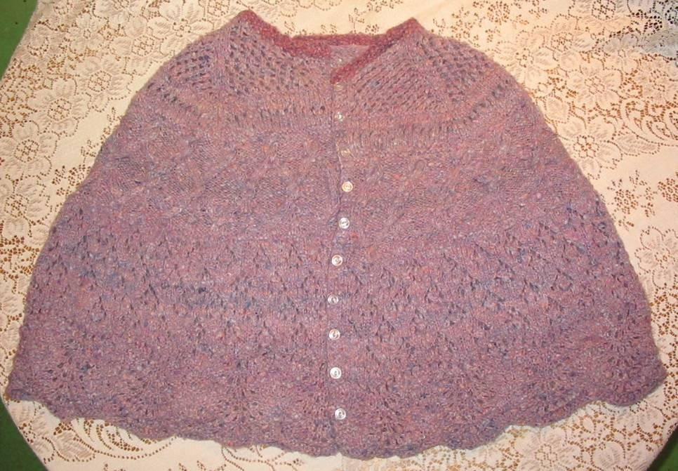 Knitted Cape Pattern : Poncho & Cape, Knit Crochet or Weaving Patterns ...