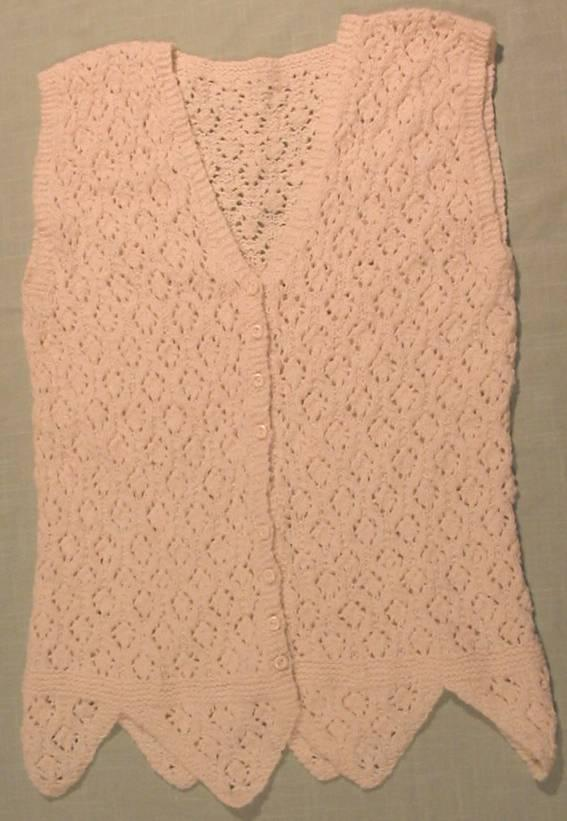 26vs Leaf Lace Vest Knitting Pattern Spincraft Knitting Patterns