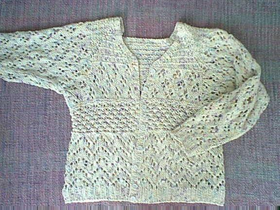 Lace Knitting Patterns For Sweaters : Lace sweater patterns spincraft knitting