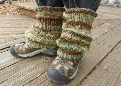 45as Ankle Warmers Two Knit As One Spincraft Knitting Patterns