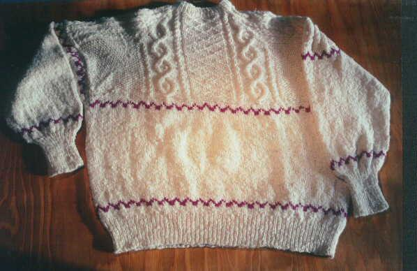 Irish Cable Knit Sweater Aran Texture Patterns Spincraft