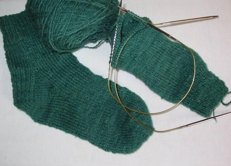 Socks on Circular Needles, Knitting Instructions ...